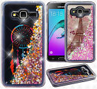 For Samsung Galaxy Amp Prime Liquid Glitter Quicksand Hard Case Phone Cover