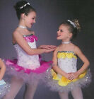 SPRING BLOSSOMS Ballet Dance Costume Pink and Yellow Child Extra Small CLEARANCE
