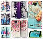 For LG Fiesta L64VL Premium Leather Wallet Pouch Flip Case Phone Cover Accessory