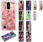 For LG K20 Plus Liquid Glitter Quicksand Hard Case Phone Cover +Screen Protector