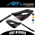 CNC 10mm Universal Dagger Rearview Side Mirrors For Suzuki