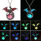Magic Luminous Steampunk Punk Dragon Glow In The Dark Necklace Pendant Women Men