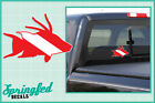 HOGFISH Shaped DIVE Flag #1 Vinyl Decal Car Truck Sticker SCUBA Diving Decal