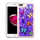 For Apple iPhone 7 & 7 PLUS Liquid Glitter Quicksand Hard Case Phone Cover