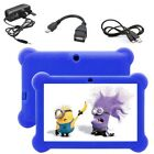 7'' Quad Core HD Tablet Bundle for Kids Android 4.4 Kitoch Dual Camera WiFi New