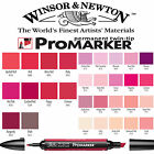 Winsor & Newton ProMarker Twin Tip Graphic Marker Pen - Pink & Red Colours