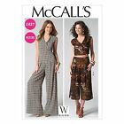 McCall's 7133 Sewing Pattern to MAKE Jumpsuit, Top & Trousers. Culottes