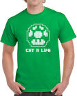 123 Get a Life mens T-shirt 1 up power video game 80s college mario gamer new