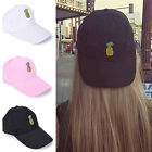 Pineapple Embroidery Hat Adjustable Baseball Cap Women Girls Hip Hop Hat Fashion