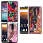 For ZTE Max XL N9560 Liquid Glitter Quicksand Hard Case Phone Cover Accessory