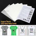 10/20/50/100sheets A4 Iron Heat Transfer Paper For The Light&Dark Cotton T-shirt