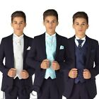 Boys Navy Suit, Page Boy Suits, Boys Weddings Suit, Diamond Waistcoat Set
