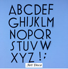 Alphabet Die Cuts - Art Deco Font. Sets of 4 in Assorted Colours
