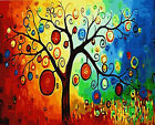 """16X20""""Paint By Number Kit DIY Oil Painting On Canvas-Kids In Flower Tree Garden"""