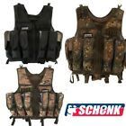 Paintball Weste Gotcha Tactical Swat Brustpanzer  Kommandoweste mit Gürtel