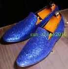 chic men round toe slip on casaul loafers moccasin nightclub shoes shiny comfort