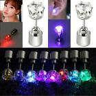 1PC Women Hot LED Light Up Crown Glowing Crystal Ear Stud Earring Lot Party