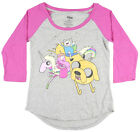 Adventure Time Pajama Set PJ Sleepwear Raglan Short Shorts Sleep Comfy Bed Grey