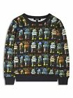 Boys Sweatshirt Robot Print Long Sleeved Top Casual Kids Wear 2-3 to 7-8 yrs