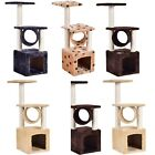"Deluxe 36"" Scratch Post Cat Tree Kitten Pet House Play Toy Condo Furniture US"