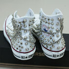 Genuine CONVERSE All-star with studs & chains Sneakers Sheos White