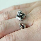 Silver Sloth Wrap Ring Animal Hug 322