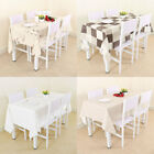 Waterproof Oil-proof Cotton Wipe Clean PVC Tablecloth Dining Kitchen Table Cover