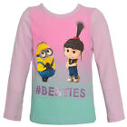 "Despicable Me Little Girls Multi Color Minions ""Besties"" Printed Top 4-6X"