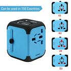 International Travel Power Adapter with 2.4A Dual USB Charger & Worldwide AC Wal