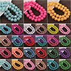 Bulk Wholesale 6/8/10mm Round Loose Spacer Glass Beads Jewelry Findings