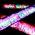 New Flashing PINK/BLUE Happy Birthday banner Party decorations light up product