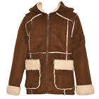 Urban Republic Little Girls Chocolate Faux Accents Hooded Coat 4-6X