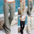 Plus Size Womens Fashion Solid Pants Casual Loose Beach Wear Long Pants Trousers