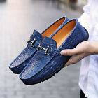 Genuine Leather Casual Loafer Slip Ons Comfy Oxfords Men's Driving Moccasins