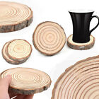 1pcs Wooden Slice Coasters Holder Coffee Tea Drinks Cup Mat Round Tableware