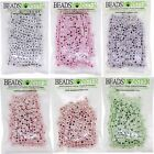 Wholesale Lot of 300 6mm Cube Color Acrylic Alphabet Jewelry Bead Loom Bracelet