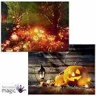 LED Light Up Canvas Halloween Pumpkin Scene Picture Wall Home Hanging Decoration