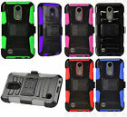 For LG Grace LTE Combo Holster with Hard HYBRID KICK STAND Rubber Phone Case