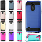 For LG Grace LTE L59BL Brushed Metal HYBRID Rubber Case Phone Cover Accessory