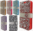 For LG Grace LTE Premium Bling Diamond Wallet Case Flip Pouch + Screen Guard