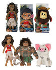 "NEW OFFICIAL 8"" 10"" 20"" DISNEY MOANA PLUSH SOFT TOYS TODDLER MAUI PUA KAKAMORA"