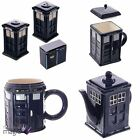 Ceramic London Police Box Doctor Who Tardis Tea Coffee Kitchen Set Gift Mug
