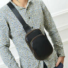 Men's Leather Chest Cycle Sling Pack Satchel Shoulder Bag Small Day Packs Purse фото