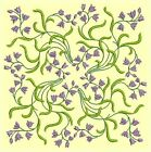 Anemone Quilt Squares 4-DESIGN 8-An Anemone Machine Embroidery Single In 4 Sizes