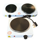 Portable Electric Hot Plate: Single & Double Hob (Travel Kitchen Cooker Food)