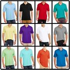 Mens Polo Shirt Top Short Sleeve Solid Collared Uniform Back to School NEW