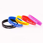 Diabetes Insulin Dependent Silicone Rubber Wristband bracelet jewelry souvenir