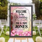 Personalised Welcome to our Wedding Sign Banner Poster Print N174 (Print Only)