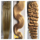 "USPS 15-36"" Real Soft Weft Human Hair Extensions Straight Wavy #18 Ash Blonde"