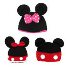 Baby Toddler Kid Boy Girls Cartoon Mickey Ear Bow Hat Beanie Cap Photo Prop Gift